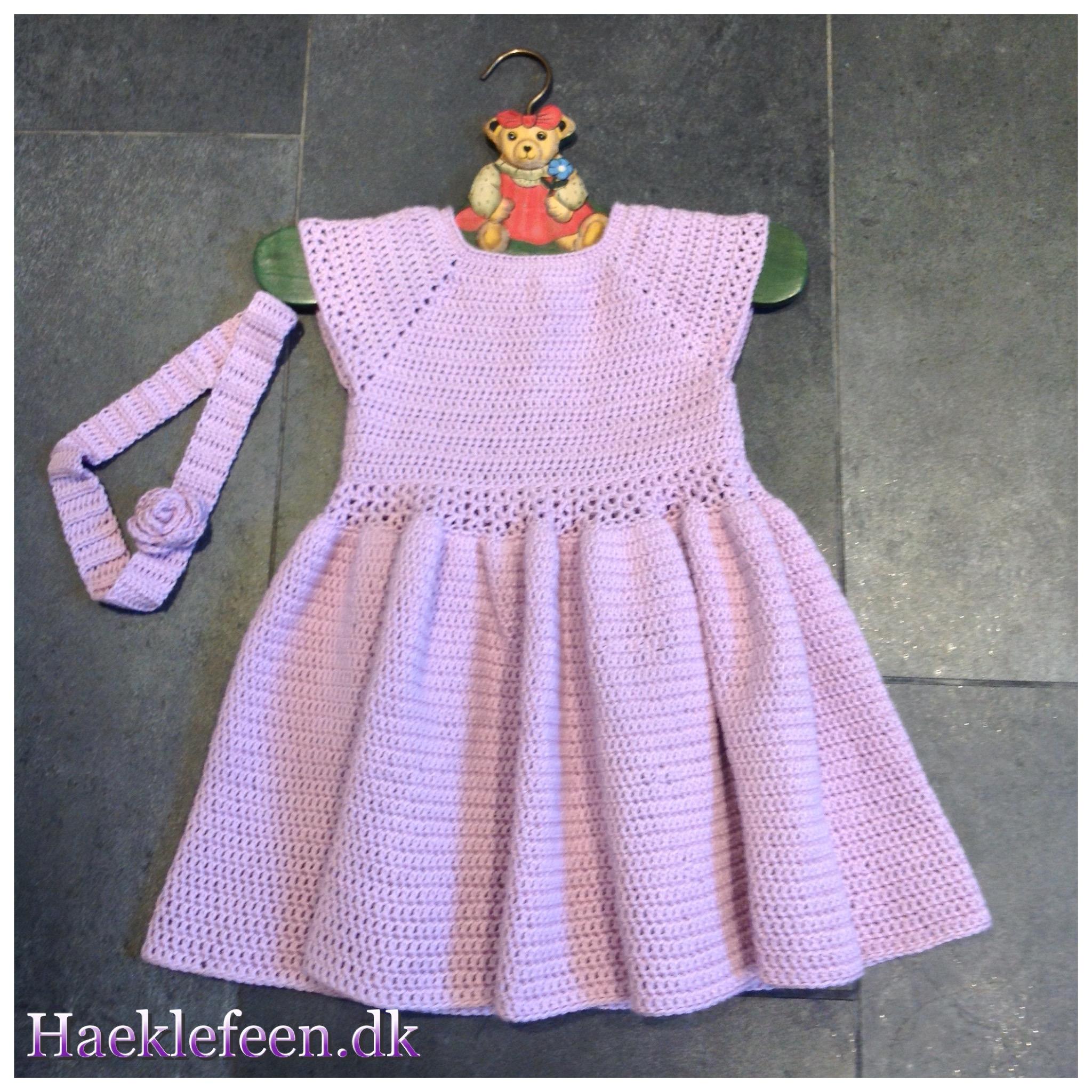 hæklet kjole opskrift